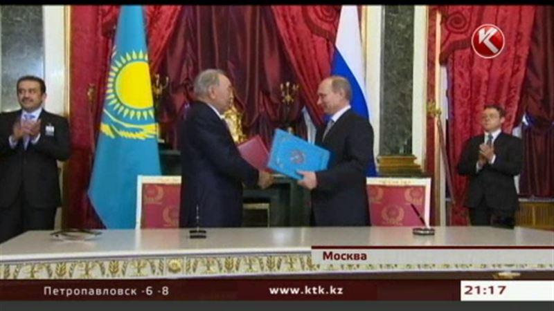 Нурсултан Назарбаев и Владимир Путин подписали ряд двусторонних соглашений