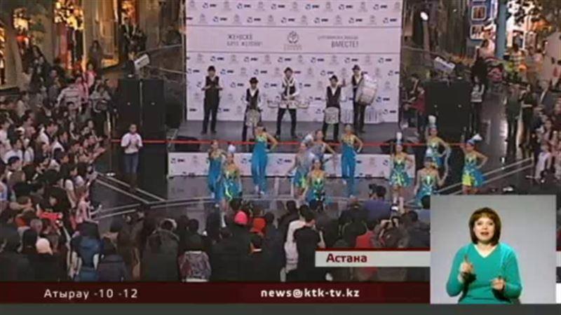Чтобы поддержать наших олимпийцев, в Астане организовали танцевальный флэшмоб