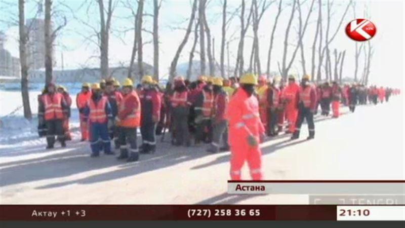 В Астане рабочие отказались строить знаменитый Abu Dhabi Plaza