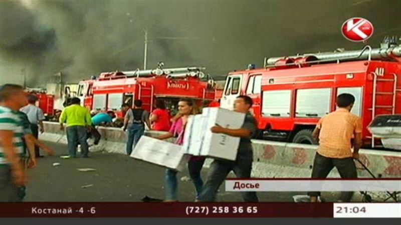 Стало известно, кто ответит за пожар на алматинской барахолке