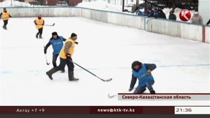 Чемпионат по хоккею в валенках провели в Северном Казахстане
