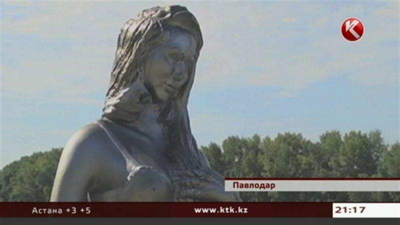 Павлодарская русалочка снова подверглась нападению вандалов