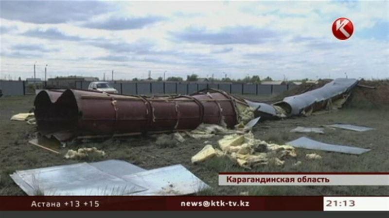 В карагандинской Дубовке рухнула водонапорная башня, поселок может остаться без воды