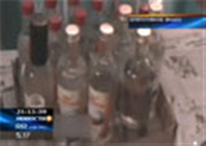 Крупнейшую партию алкогольного суррогата изъяли в Южном Казахстане