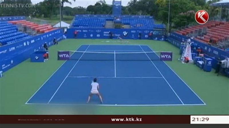 Зарина Дияс вышла в 1/8 финала теннисного турнира серии WTA