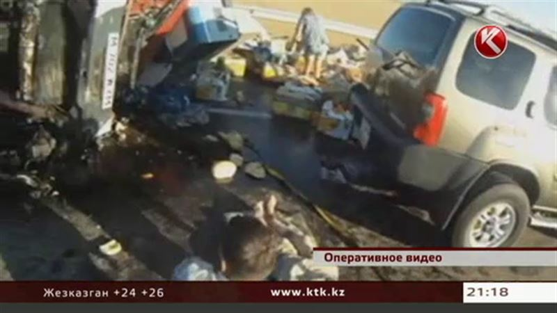 Трассу Алматы – Ташкент заблокировали дыни