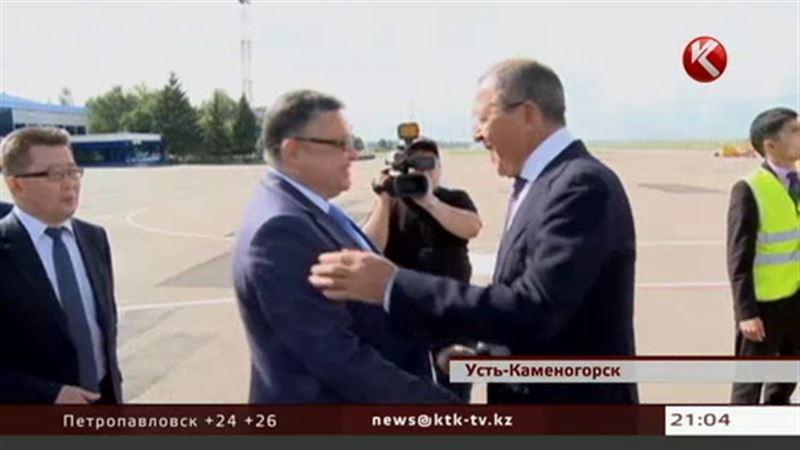 Глава российского МИДа прибыл с рабочим визитом в Усть-Каменогорск