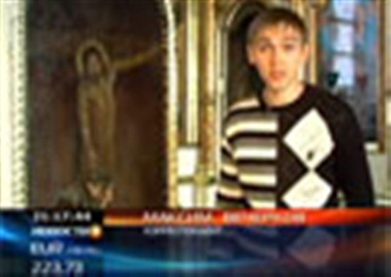 На иконе в Воскресенском соборе Семея помимо святых образов изображен Федор Достоевский
