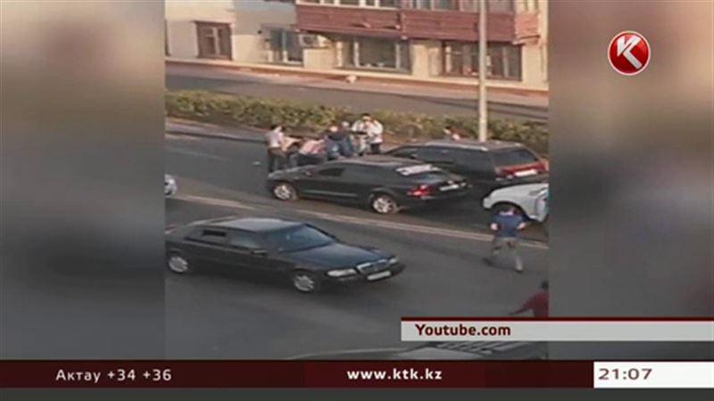 Массовая драка в Астане парализовала уличное движение