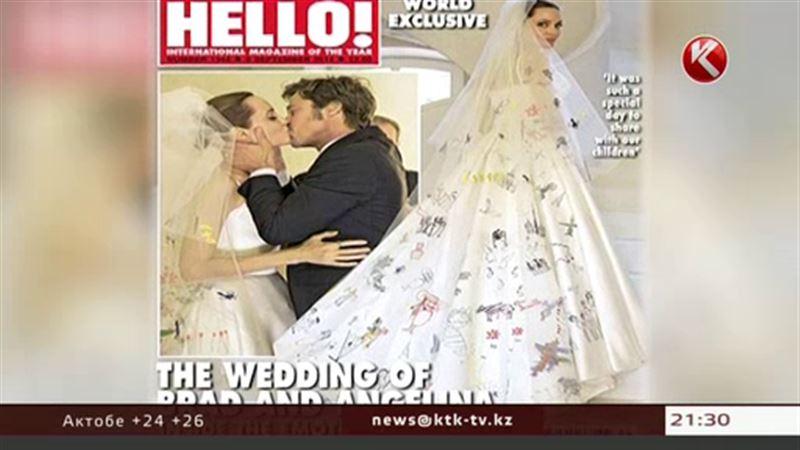 Свадебное платье Джоли создали ее дети