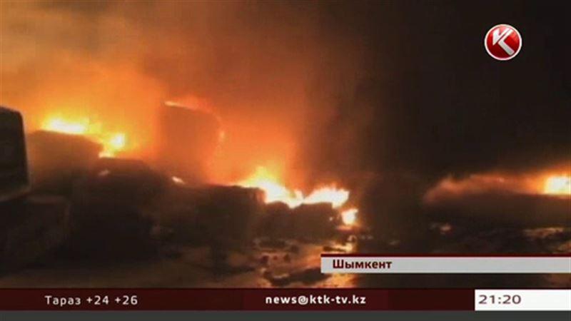 В Шымкенте горело предприятие по утилизации шин