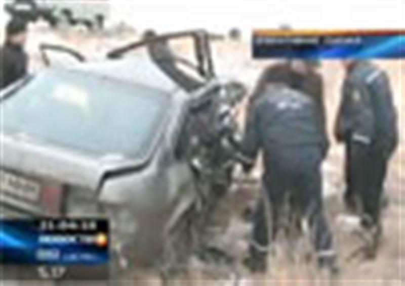 На трассе Павлодар - Иртышск произошла автокатастрофа. Есть жертвы