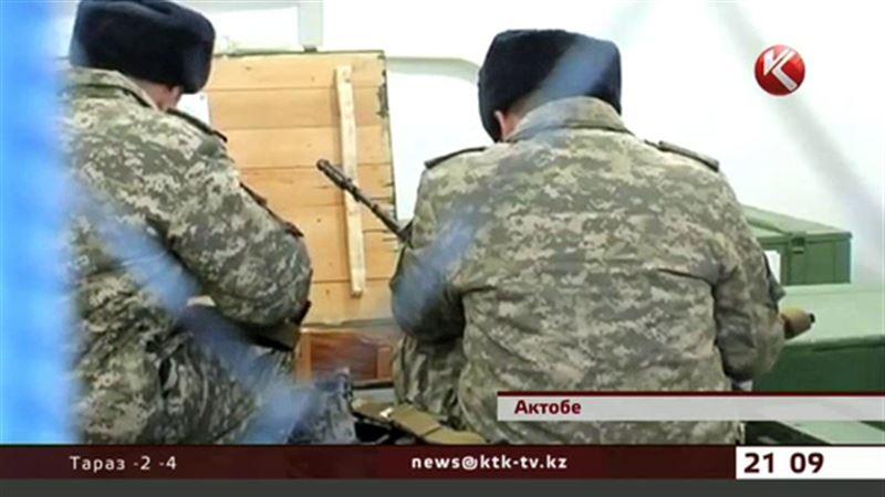 В воинской части Актобе недосчитались одного бойца