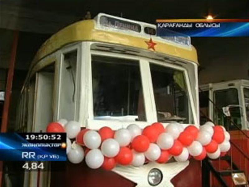 Теміртауда  жарты ғасыр бұрынғы трамвай қайтадан жолаушы тасу үшін жолға шықты
