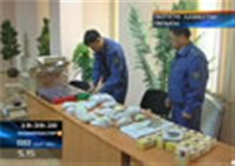 Қазақ-өзбек шекарасында ірі көлемдегі оқ-дәрілер мен зергерлік бұйымдар тәркіленді