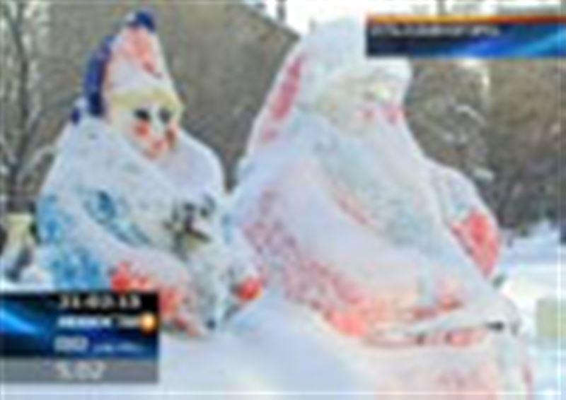 Усть-Каменогорск накануне Нового года превратился в настоящее ледовое царство