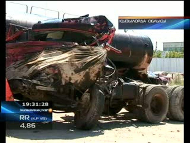 Қызылорда облысы: мұнай таситын көлік апатқа ұшырады!