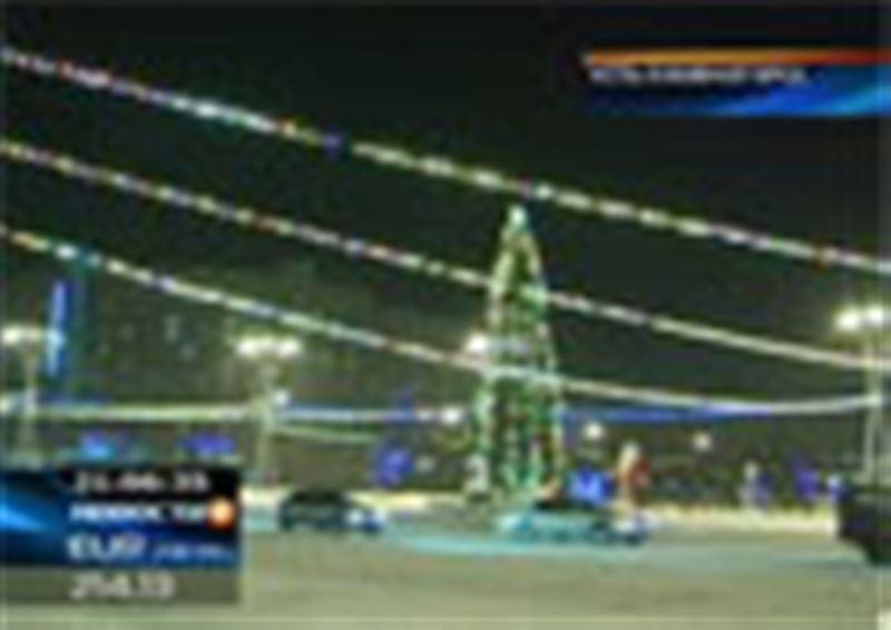 В Усть-Каменогорске  в новогодние праздники установили живую ель