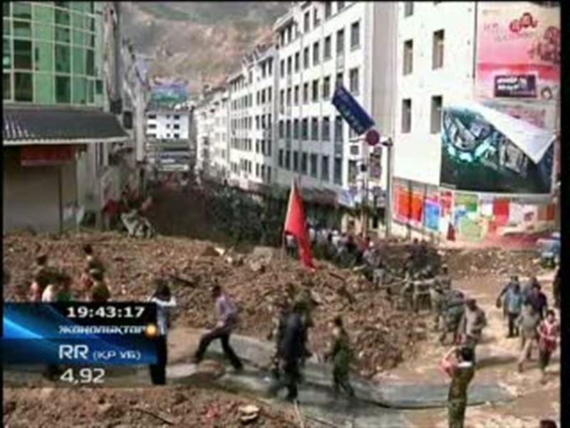 Қытай: табиғат апатынан қаза тапқандардың саны 700-ден асты