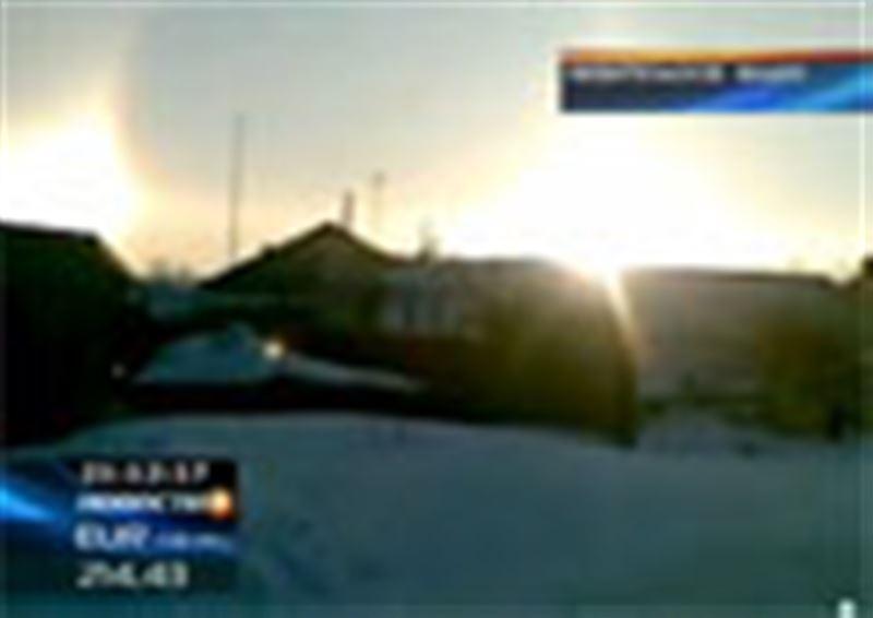 Необычное атмосферное явление в Акмолинской области: местные жители стали свидетелями появления на небосводе сразу трех солнц