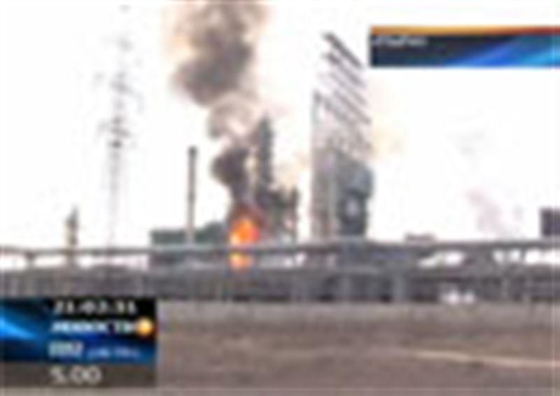 В Атырау вновь горел нефтеперерабатывающий завод