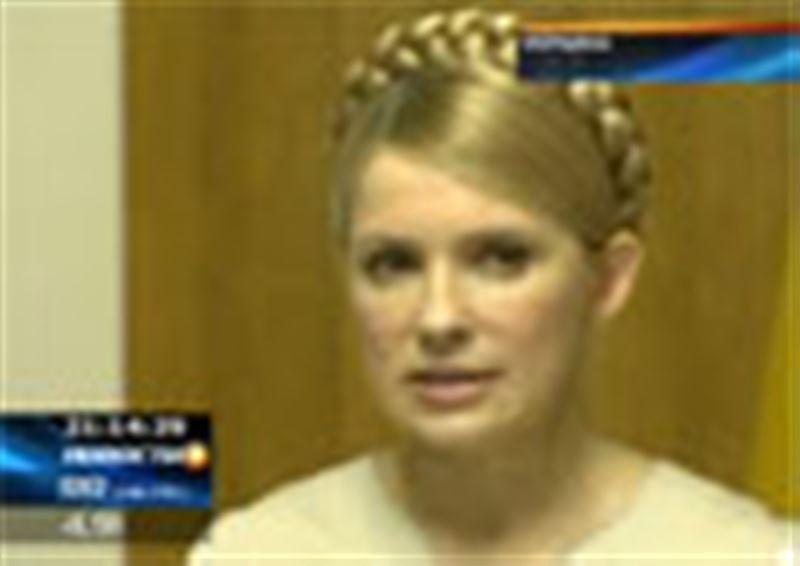 Юлия Тимошенко впервые с воскресенья появилась перед журналистами, открывая заседание украинского правительства