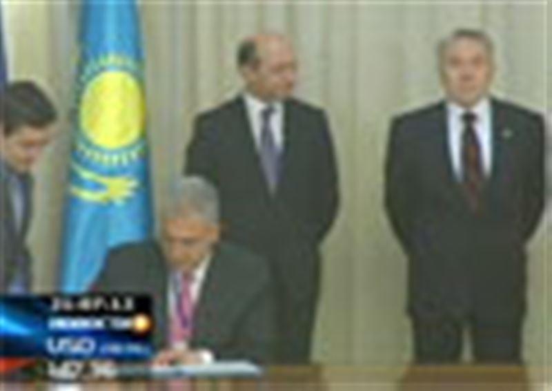 В Астане завершились переговоры Нурсултана Назарбаева и его румынского коллеги Траяна Басеску
