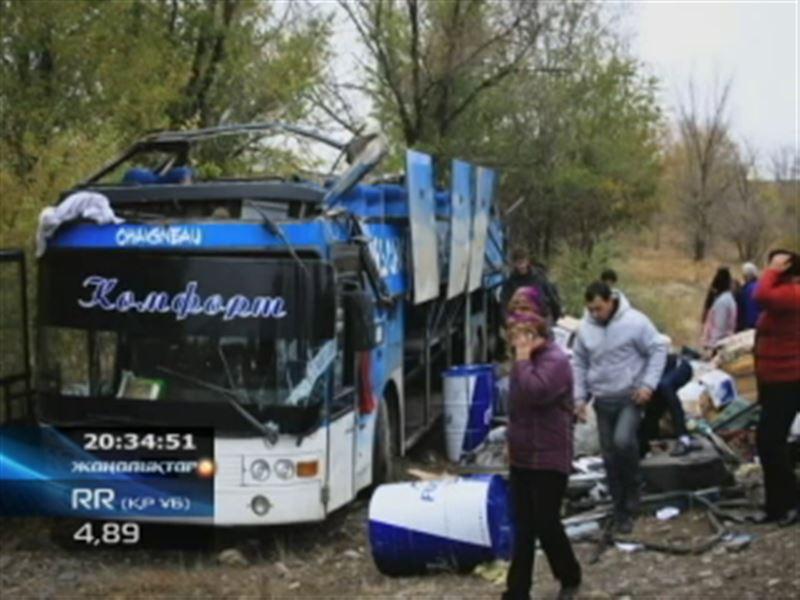 Жамбыл облысында жолаушылар мінген автобус аударылып, бір адам көз жұмды