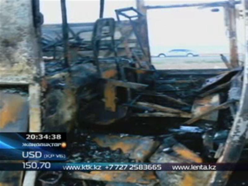 Жамбыл облысында жолаушылар тасымалдайтын автобус отқа оранды