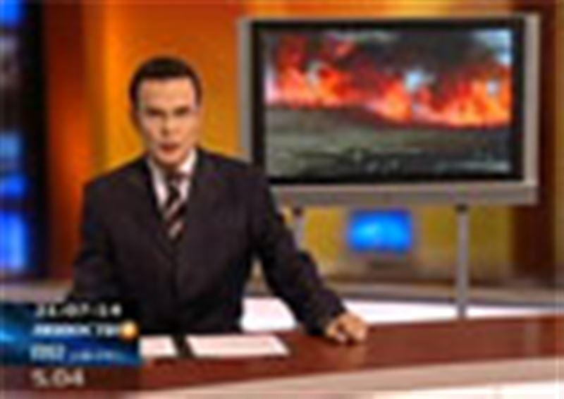 В Кокшетау продолжают полыхать пожары. Возгорание произошло на станции очистных сооружений
