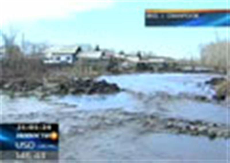 В Восточном Казахстане прорвалась дамба Лайлинского водохранилища. Затоплено село Самарское, жертв нет, сильно пострадали дома и хозпостройки