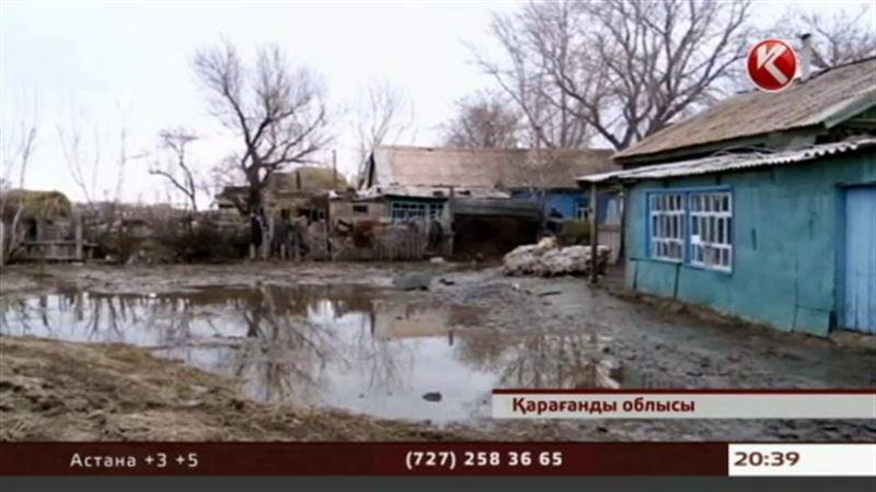 Қарағанды облысында тасқын су үйлерді қиратты