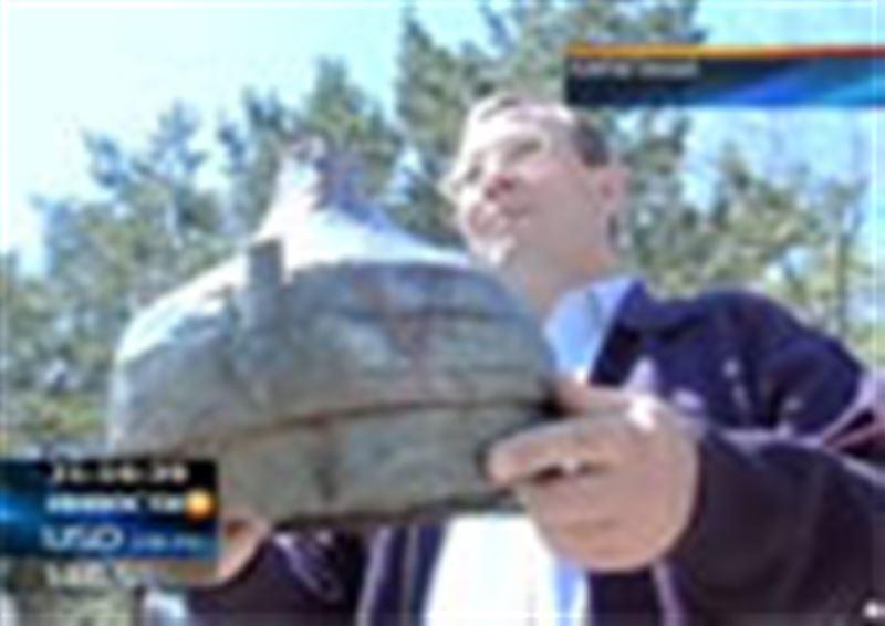 В Карагандинской области нашли шлем средневекового воина сказочного богатырского размера