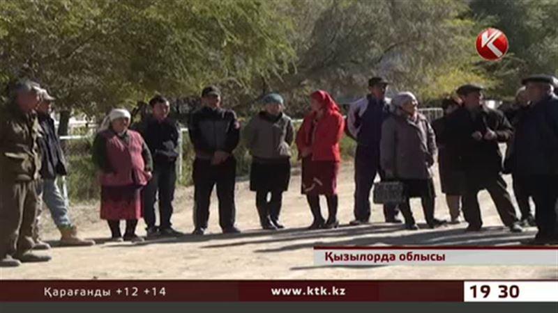 Қызылорда облысында малы  ұрланып жатқан тұрғындар наразылық білдірді