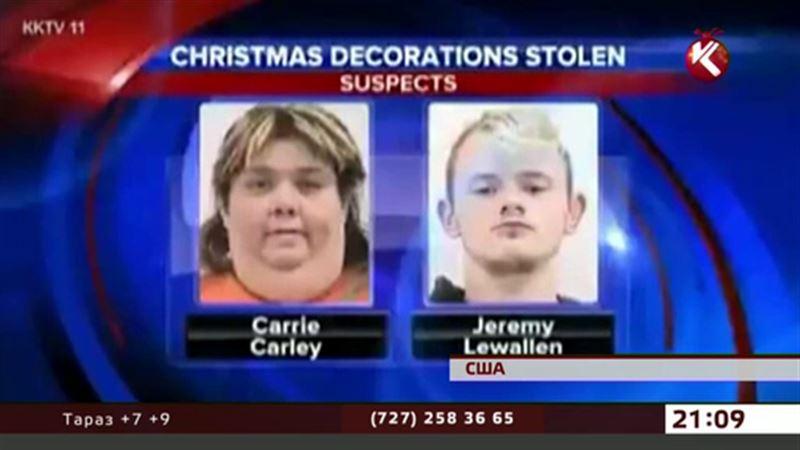 В США задержали воришек новогодних украшений