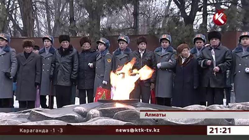 Вымпел Победы прибыл в Алматы