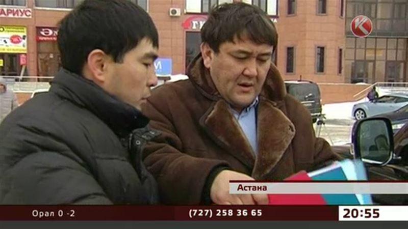 Астана тұрғынының қымбат көлігі көше ортасында тәркіленді