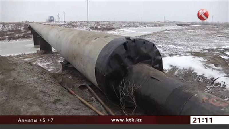 Утечка нефти произошла в Атырауской области