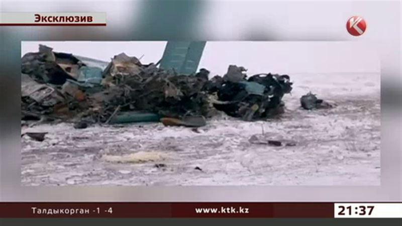 Первое видео с места катастрофы Ан-2 в Жамбылской области