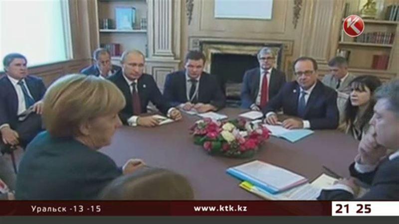 Перед встречей в Астане в Берлине проходят переговоры «нормандской четвёрки»