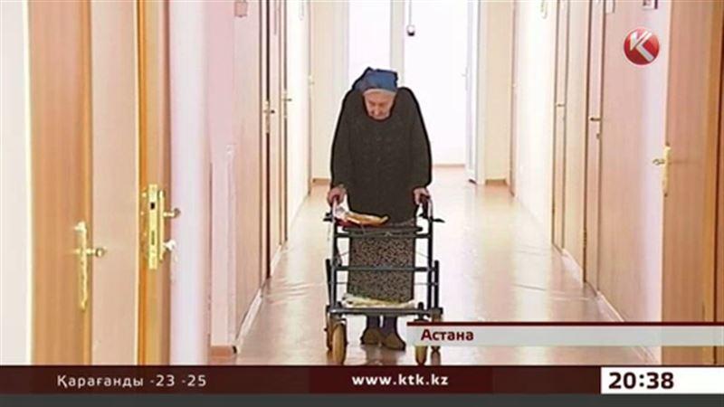 Астанада жалғызбасты қариялар  зейнетақыларының  қысқаратынына наразылық білдірді