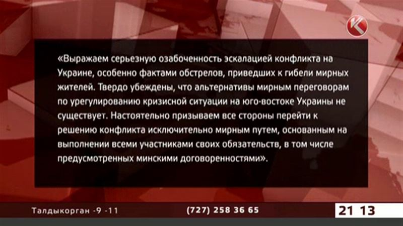 Казахстанские дипломаты призывают ополченцев и украинскую армию к мирным переговорам