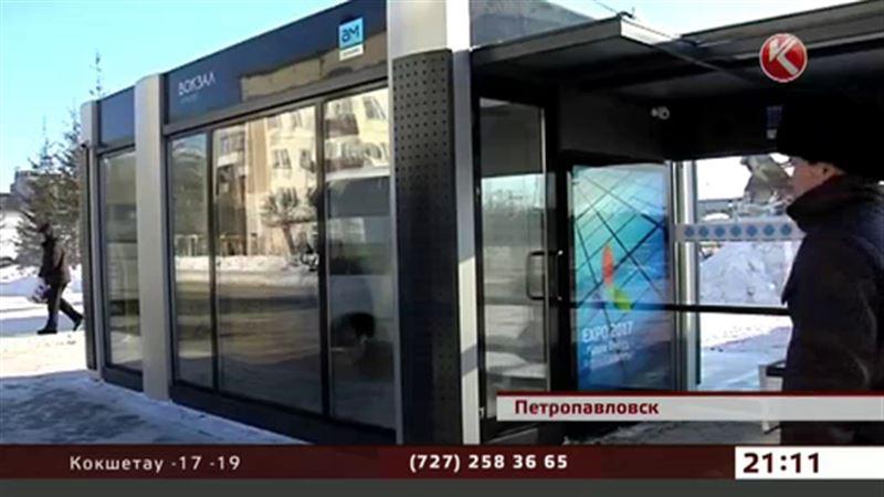 В Петропавловске теперь можно погреться на остановке