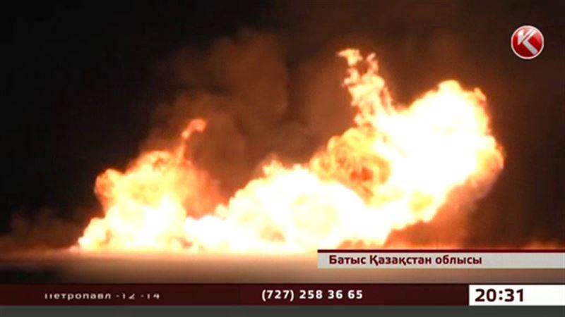 БҚО-да өрт сөндірушілер жарылған газ құбырына неліктен уақытылы жете алмағандарын  түсіндірді