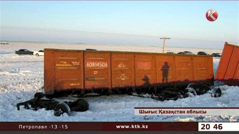 ШҚО-да апат болып  19 вагон рельстен шығып кетті