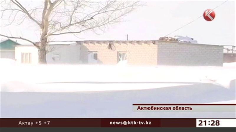 Три аула замело в Актюбинской области
