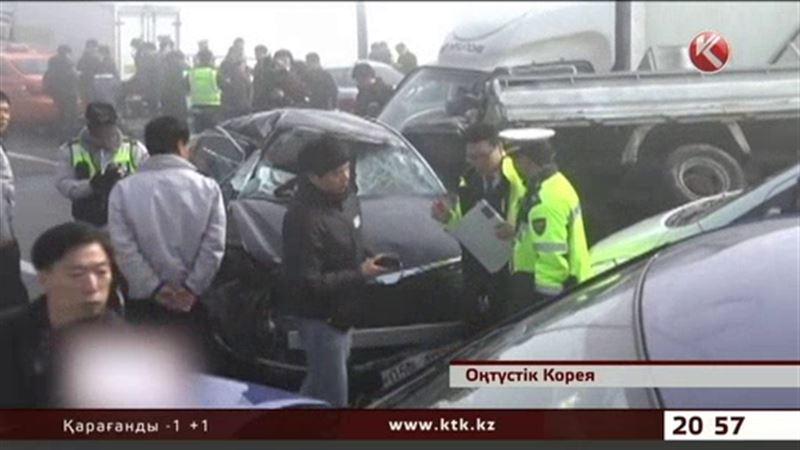 Оңтүстік Кореяда ірі жол апаты болды