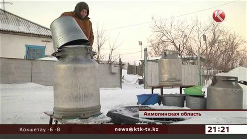 Акмолинской посёлок третий месяц остаётся без воды