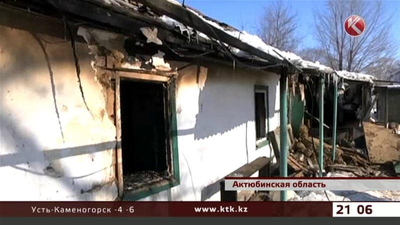 В Актюбинской области в огне погибла женщина, причину пожара выясняют