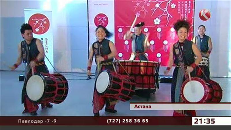 Японские барабанщики открыли в Астане фестиваль весны
